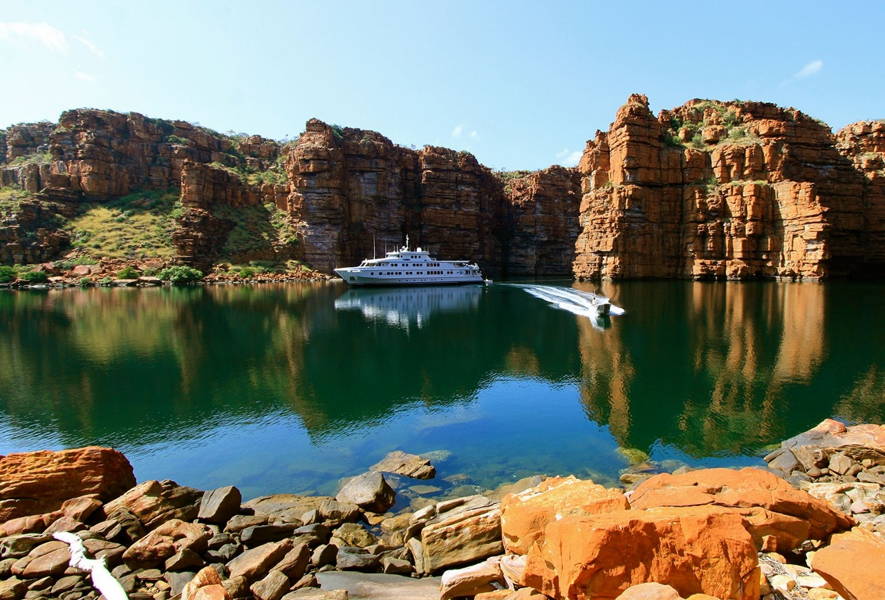 Scenic sails on the True North in the Kimberley.