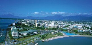 The city of Cairns in Far North Queensland.