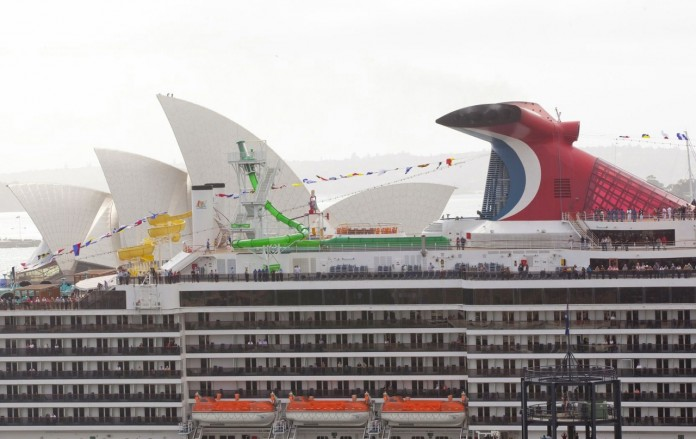 Carnival Spirit cruise ship based in Australia.