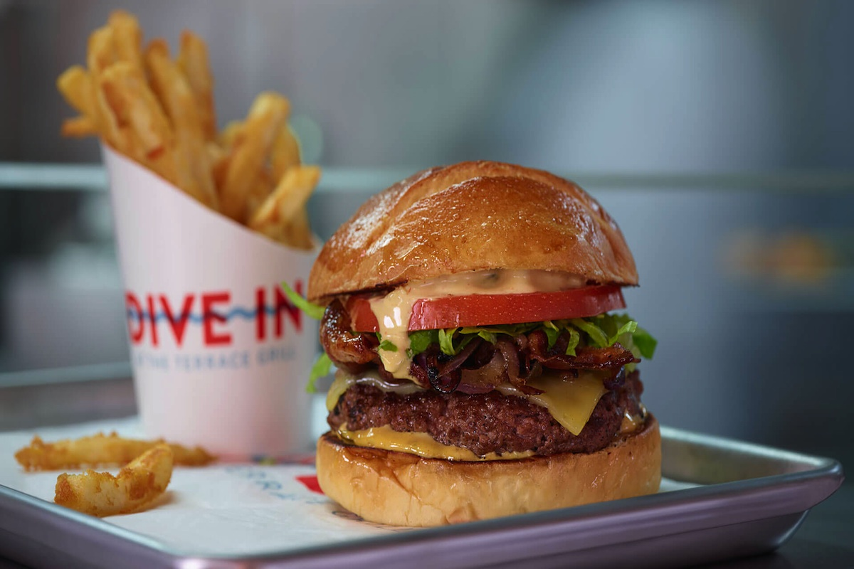 Gourmet Burgers are all the rage in the Dive In Grill aboard Holland America's Noordam