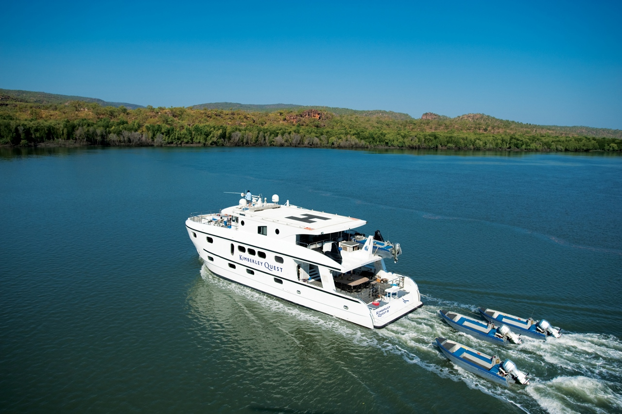 Kimberley Quest II is able to cruise some narrow waterways.