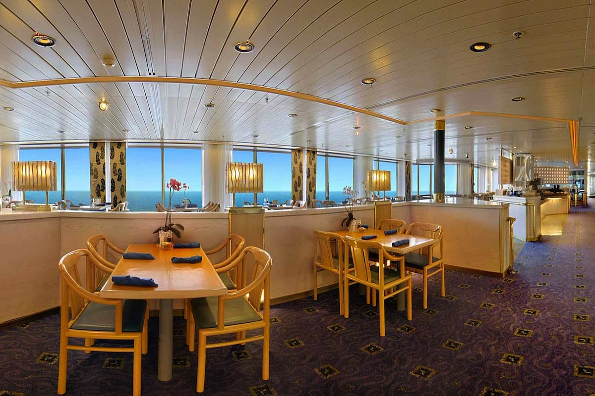 The Lido Restaurant provides great vistas and views aboard Holland America Line