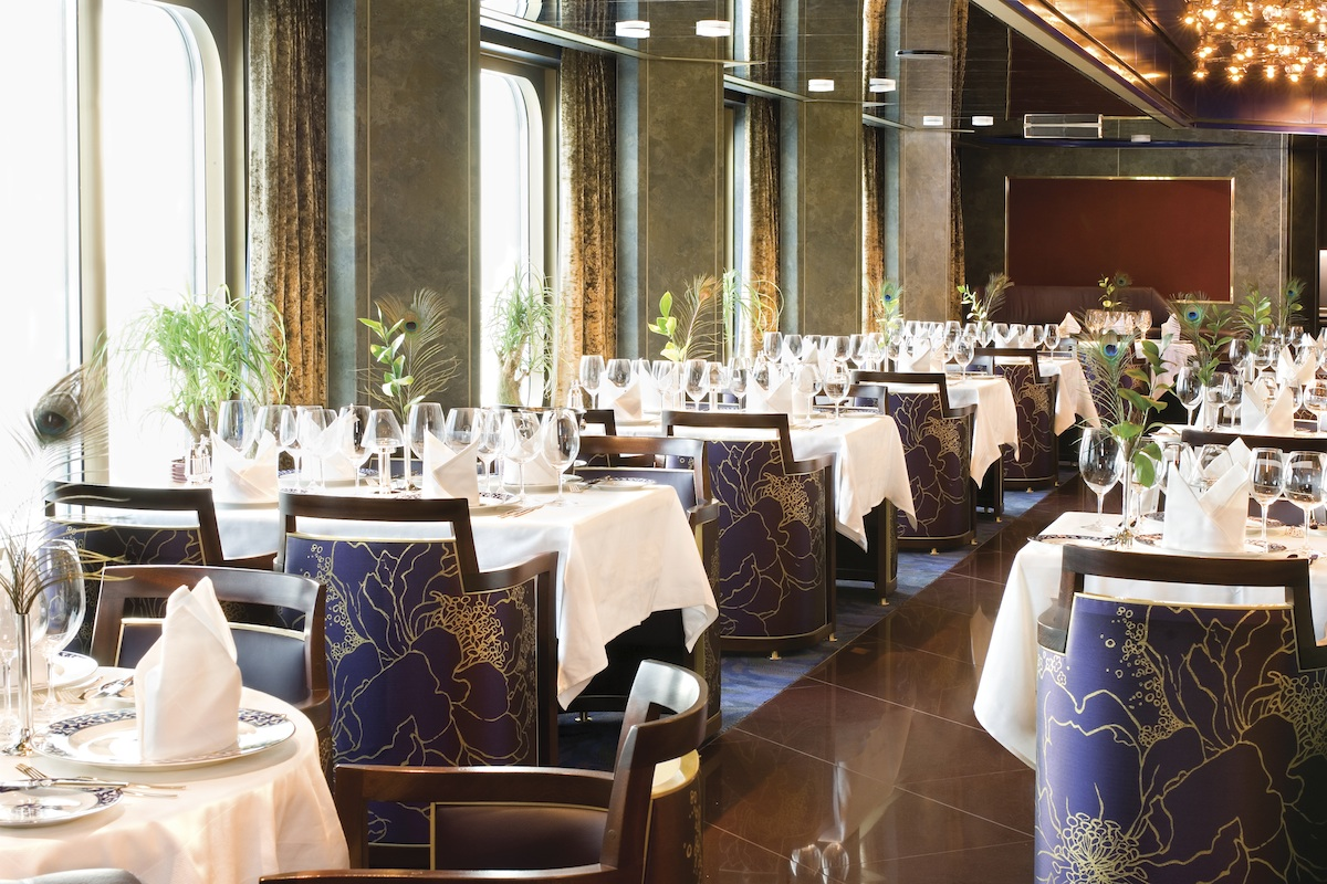 The Noordam Pinnacle Grill provides sophisticated surrounds for a sophisticated menu aboard Holland America Line's Noordam in Australia and New Zealand