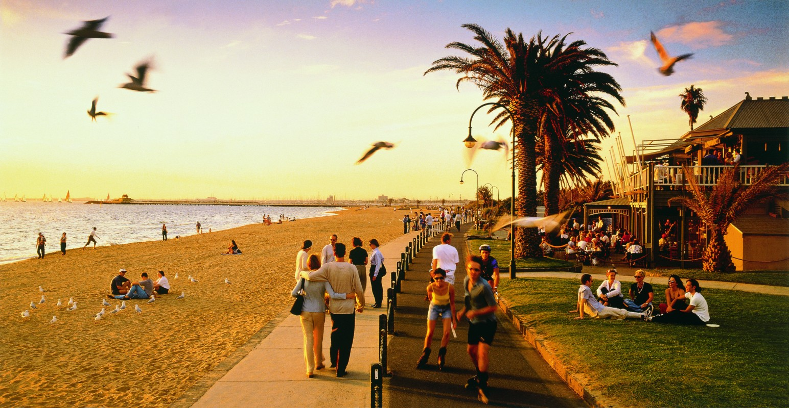 The St Kilda Foreshore is a great place to stay close to the Port of Melbourne.
