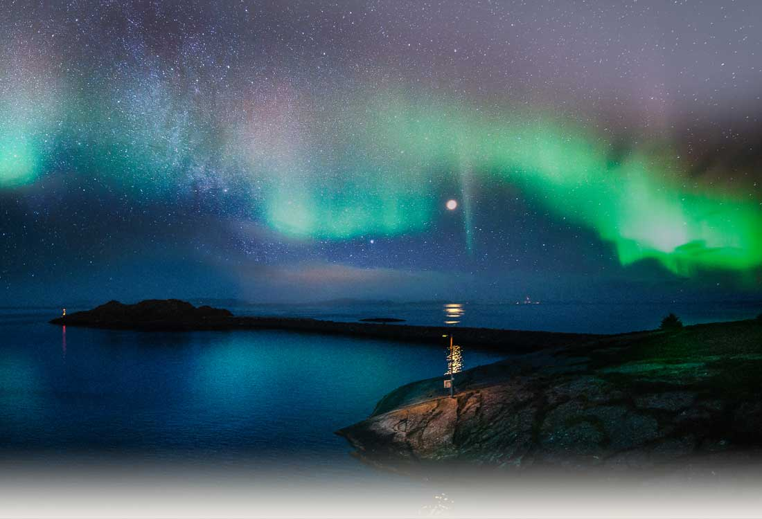 Travellers can see the Northern Lights from P&O Cruises World Cruising on Oriana.