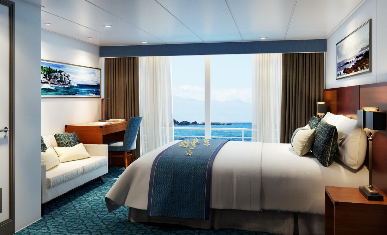 Coral Expeditions will install these Bridge Deck Balcony Staterooms onboard.