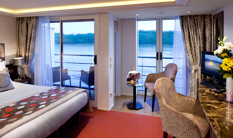 The Twin Balcony Suite on APT ship AmaCerto.
