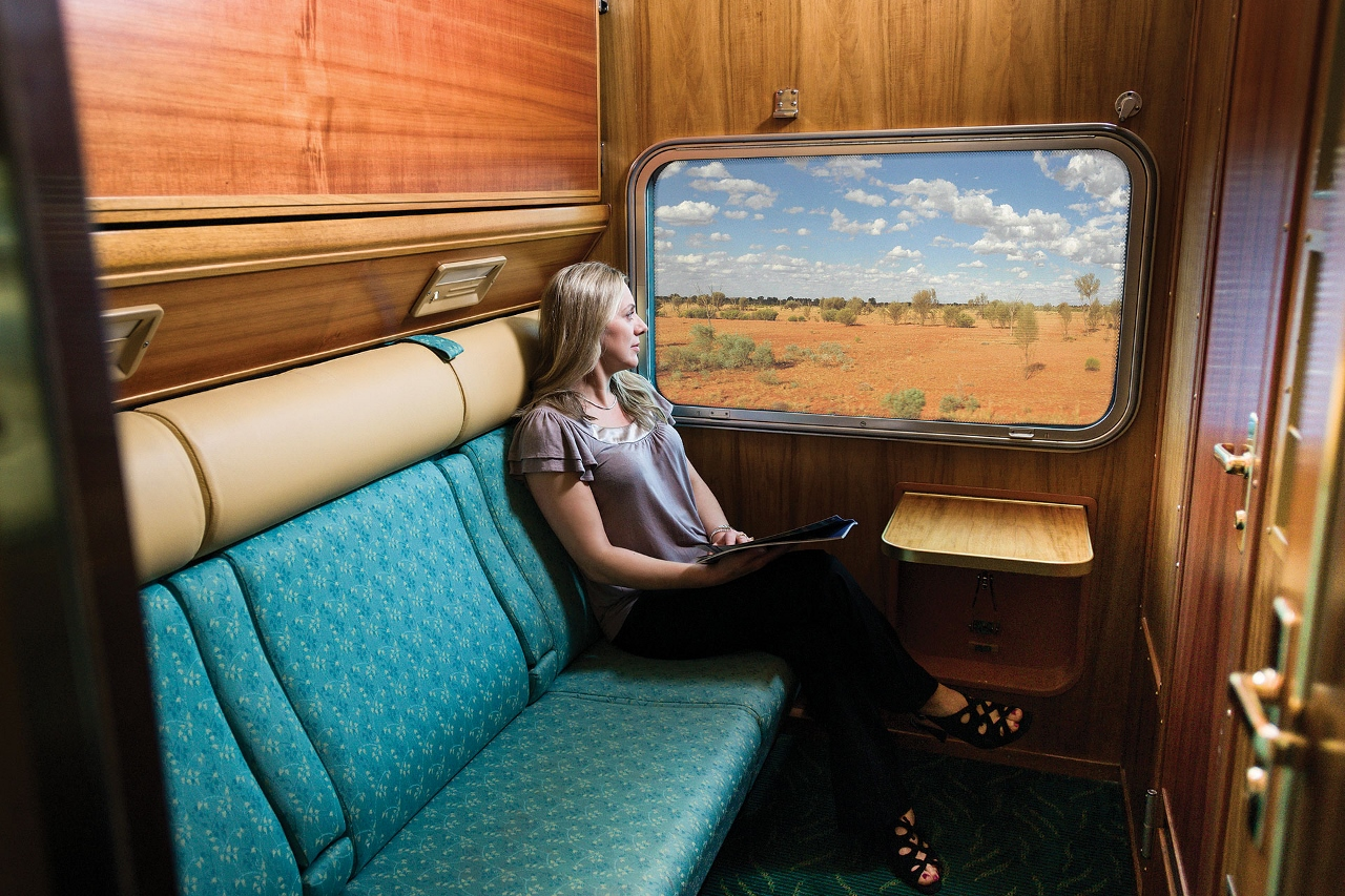 Sleeper cabins by night become a comfortable and private room to enjoy the scenery.