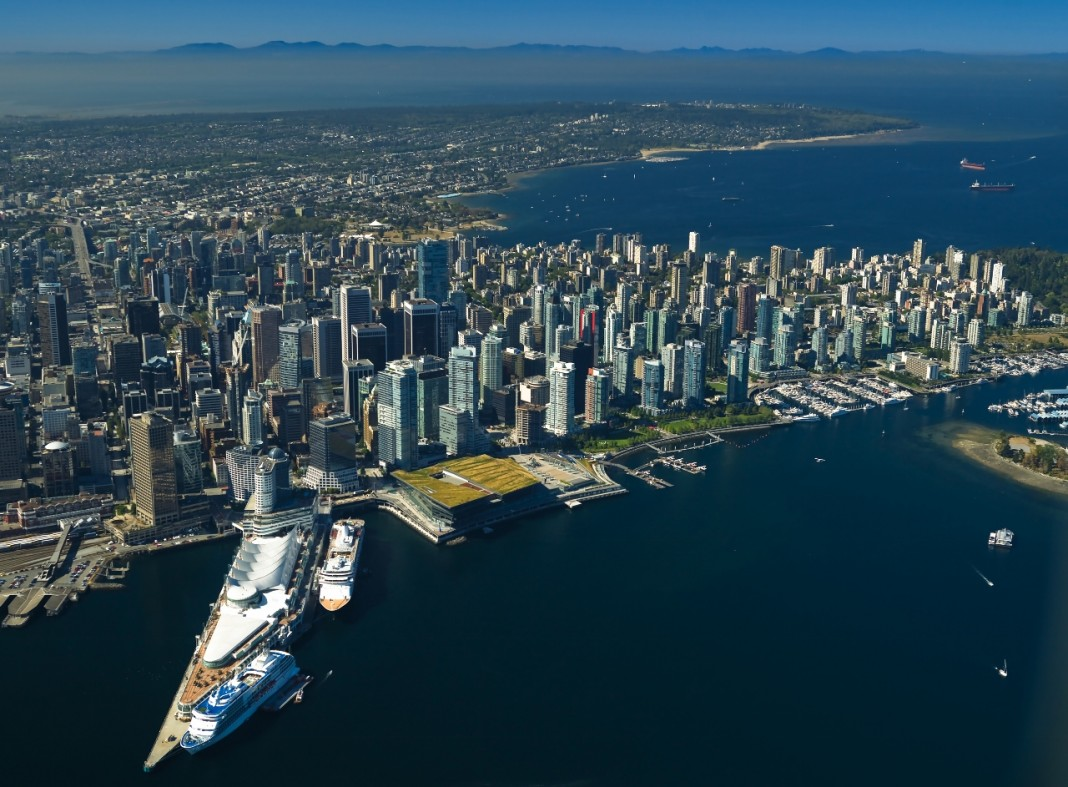 A look at Vancouver, British Columbia, from high above.