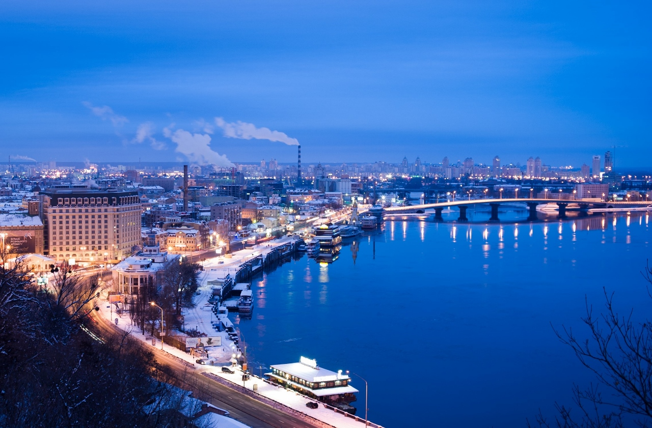 The Dnieper River in Europe is popular with river cruising.