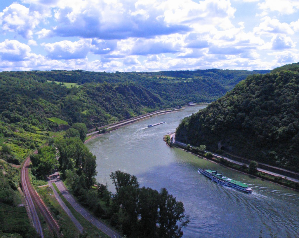 The Rhine River in Europe is popular with river cruising.