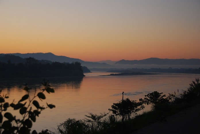 The Mighty Mekong projects an aura of calm first thing in the morning.