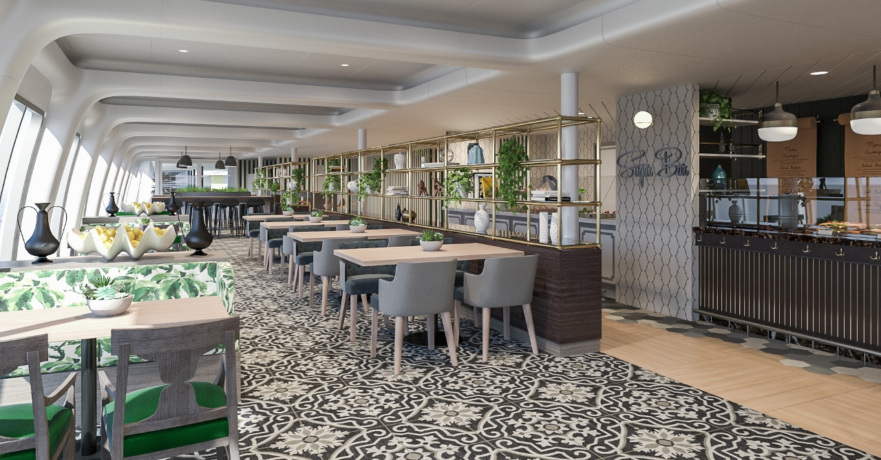 The Pantry on Pacific Dawn will receive a makeover in addition to several new dining outlets.