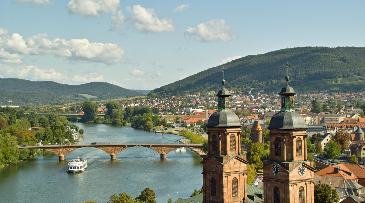 The Main River in Europe is popular with river cruising.