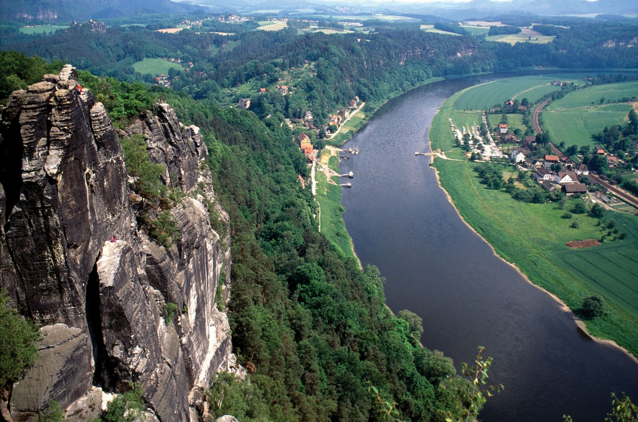 The Elbe River in Europe is popular with river cruising.