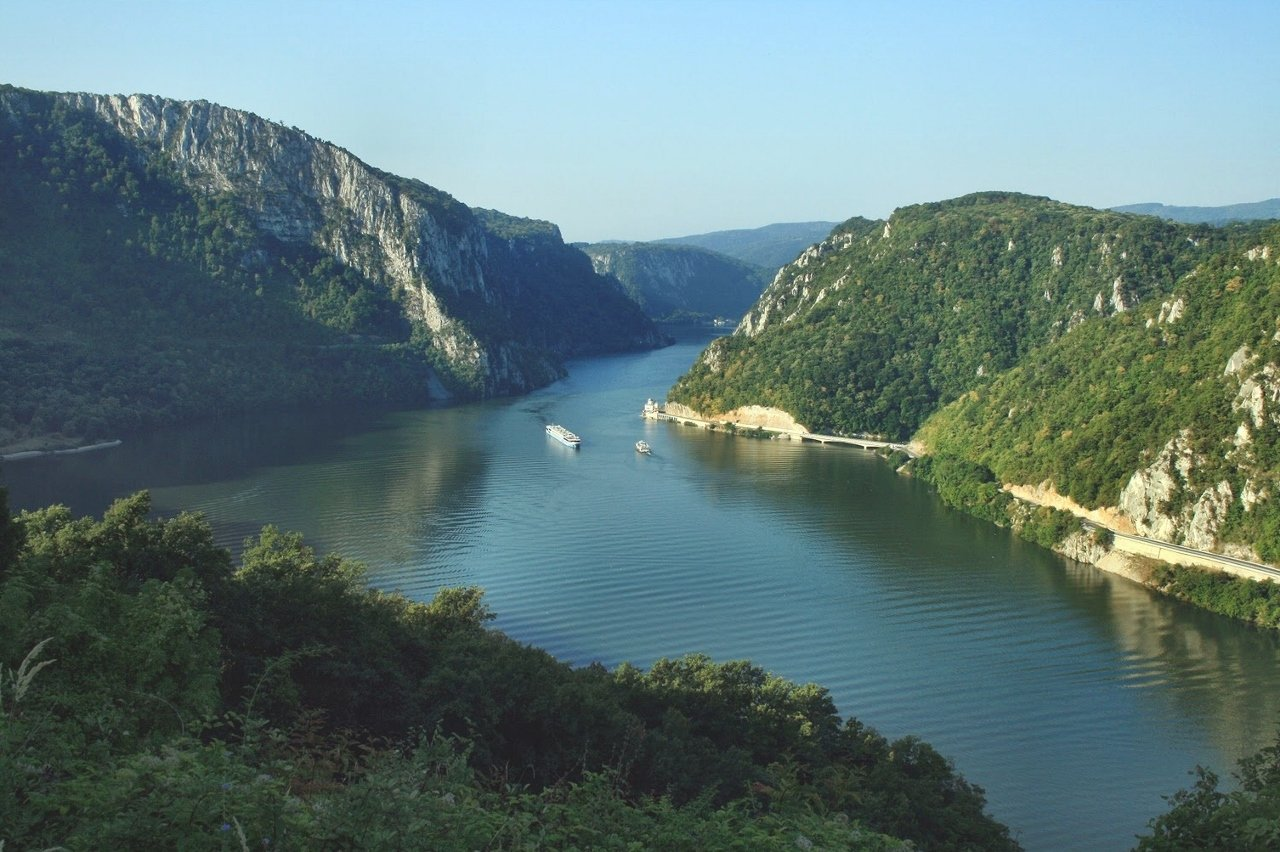 The Danube River in Europe is popular with river cruising.