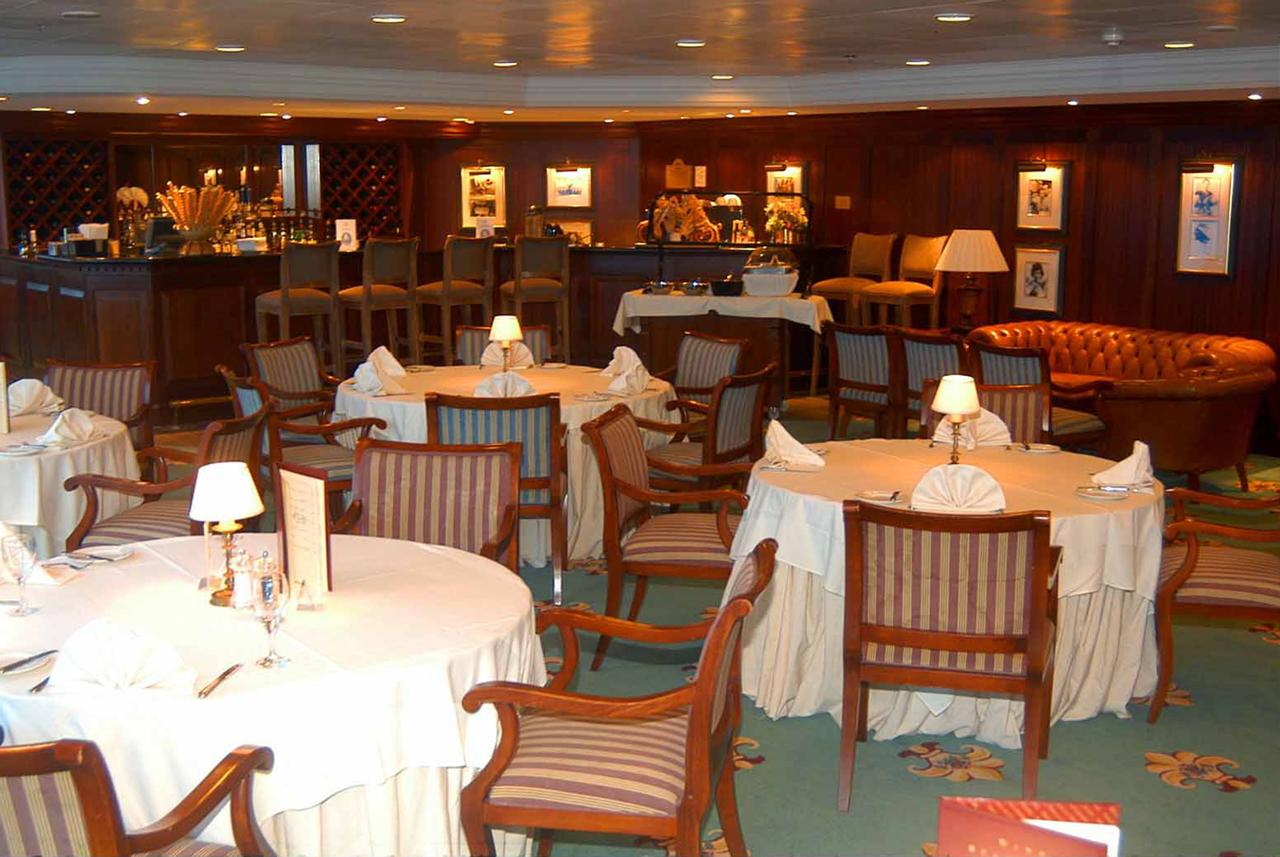 One of two specialty dining outlets on Sea Princess is the Sterling Steakhouse.