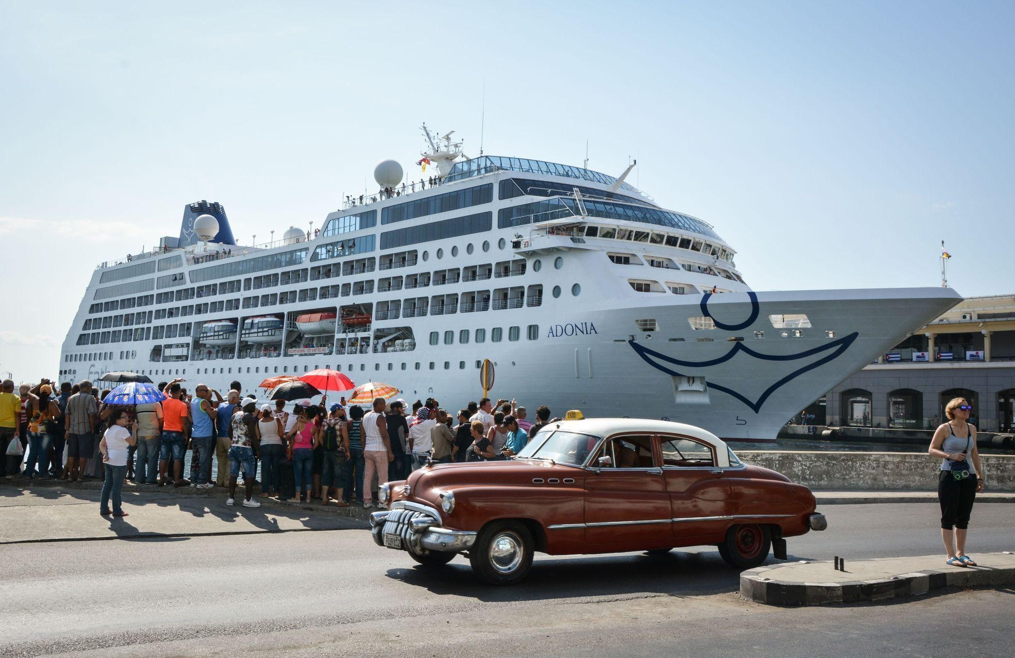 Fathom's MV Adonia docks in Havana's harbour.