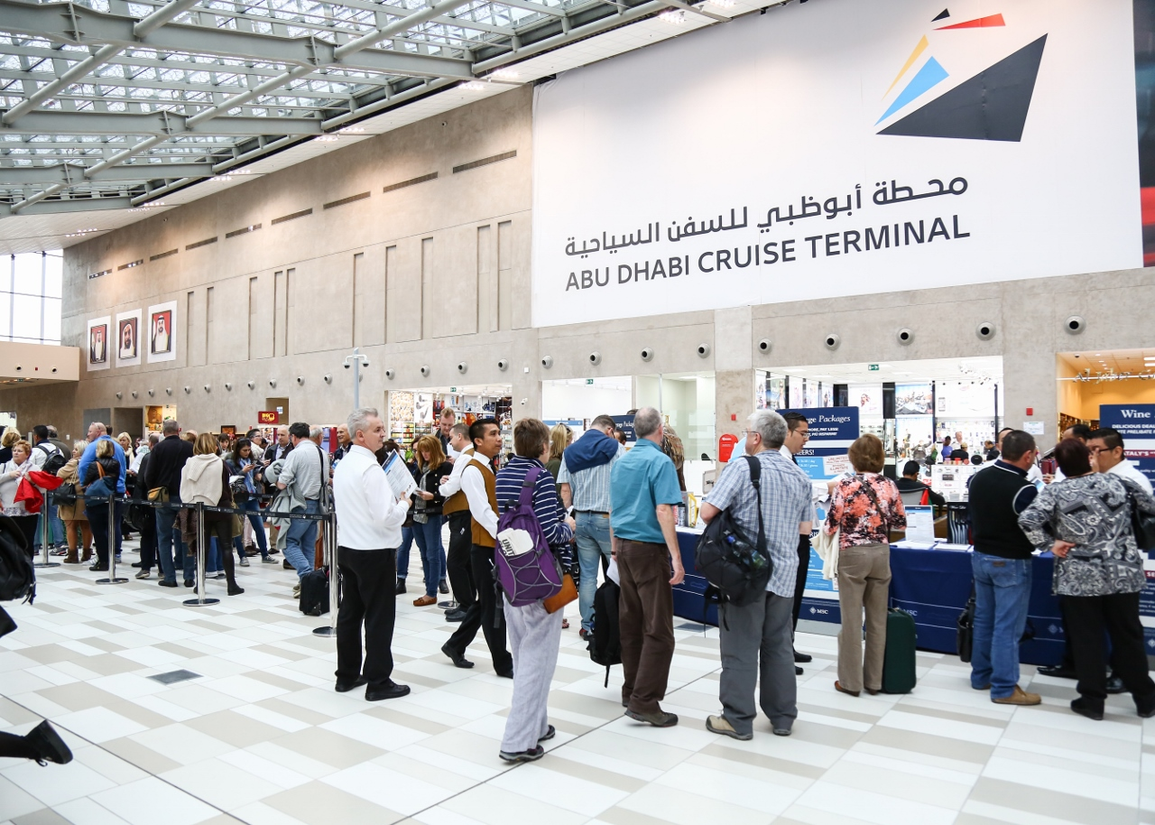 The sprawling Abu Dhabi Cruise Terminal is barely a year old and has been designed for ease-of-use by passengers.