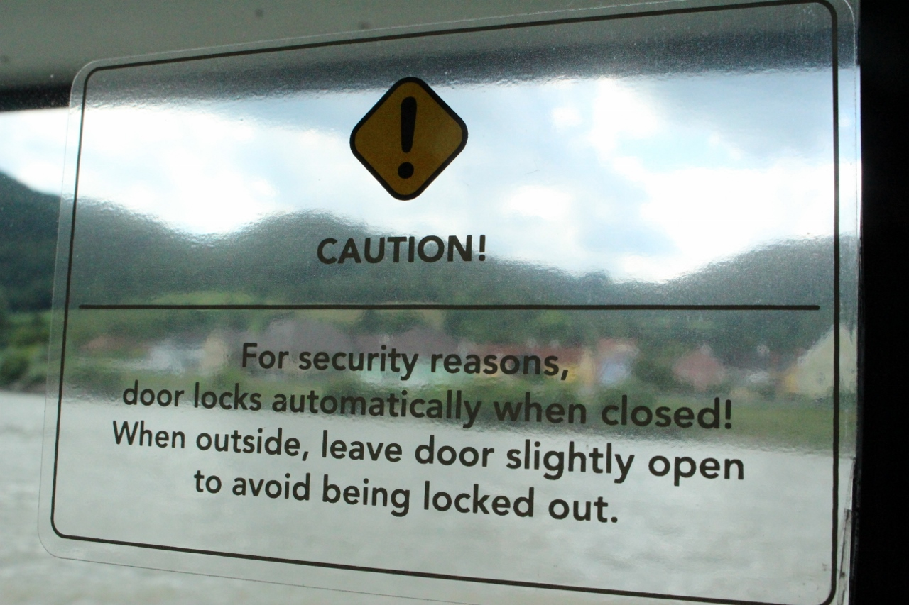 APT river cruise guests can accidentally lock themselves on the balcony if not careful.