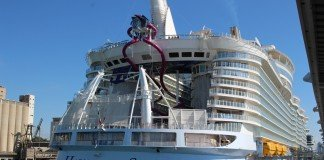 Royal Caribbean's Harmony of the Seas berthed in Barcelona, Spain.