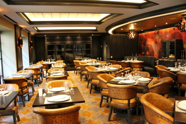 Chops Grille Steakhouse aboard Harmony of the Seas, sits in the Central Park neighbourhood.