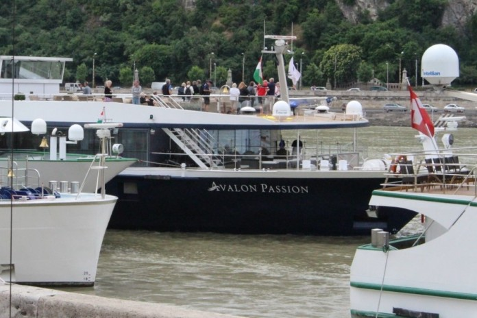 Avalon Waterways' Suite Ship Avalon Passion docked in Budapest.