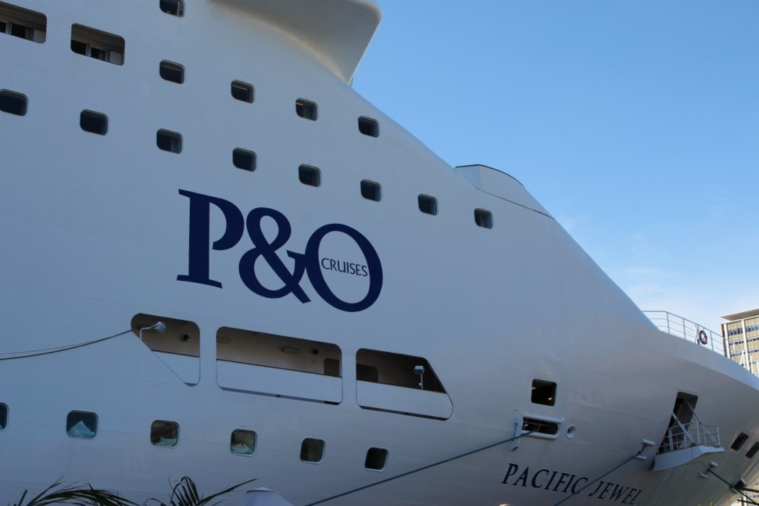 P&O Cruises' Pacific Jewel berthed in Sydney Harbour