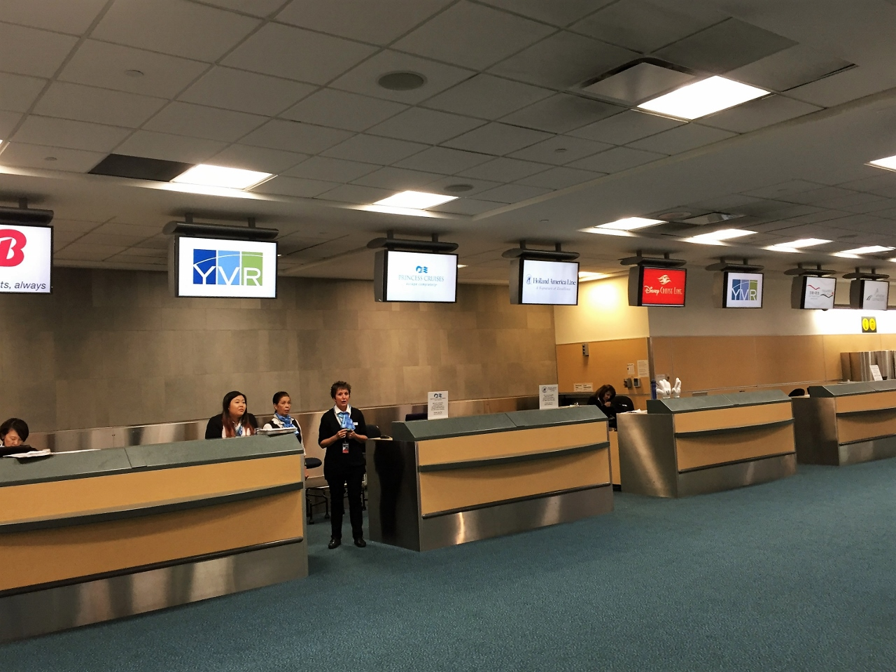 Holland America Line, Princess Cruises, Disney Cruise Line and others can accept passengers checking in at Vancouver Airport.