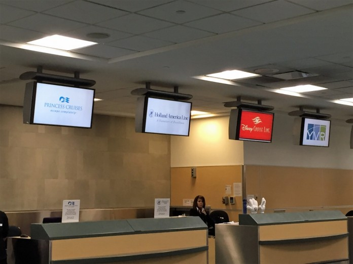 Vancouver Airport allows guests to check-in for their cruise at the airport.
