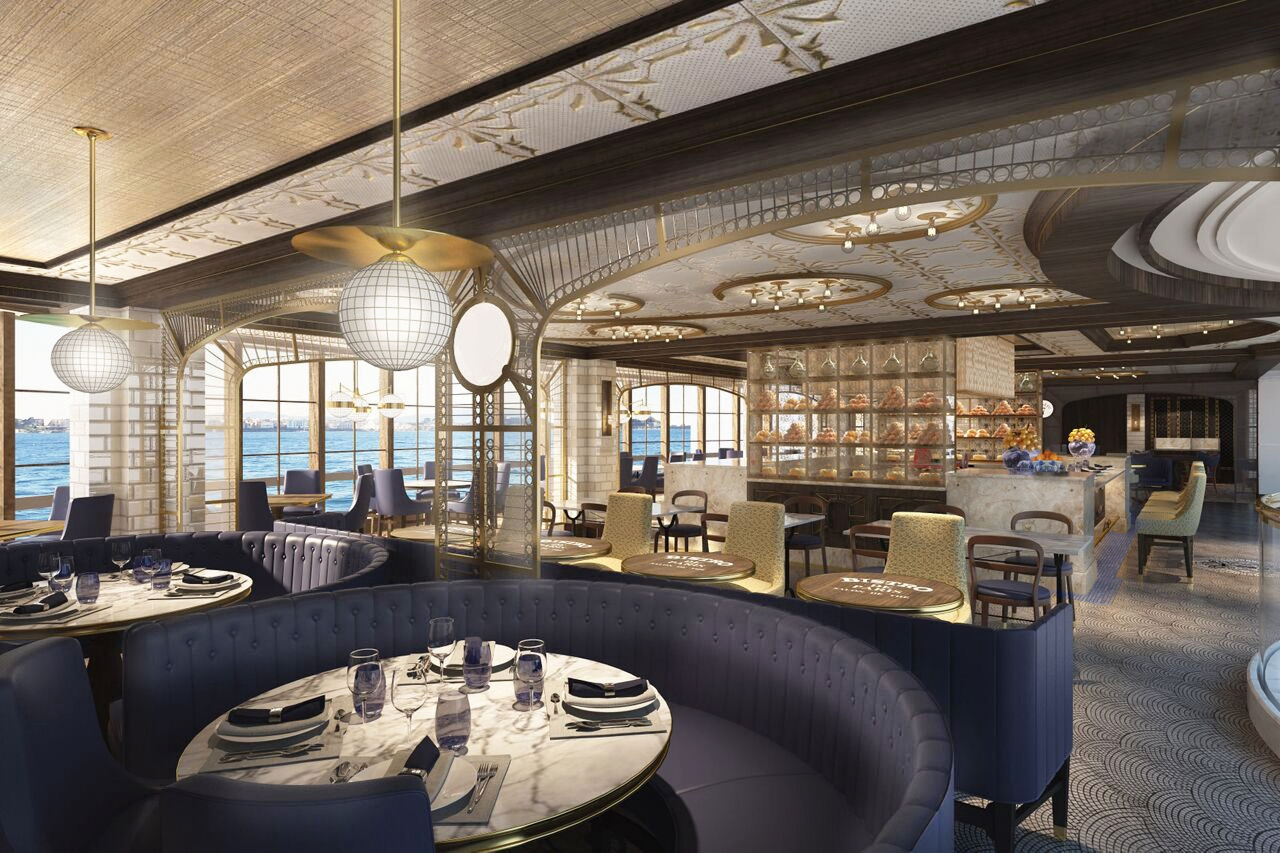 A rendering of the new French home-style restaurant, Le Bistrot.