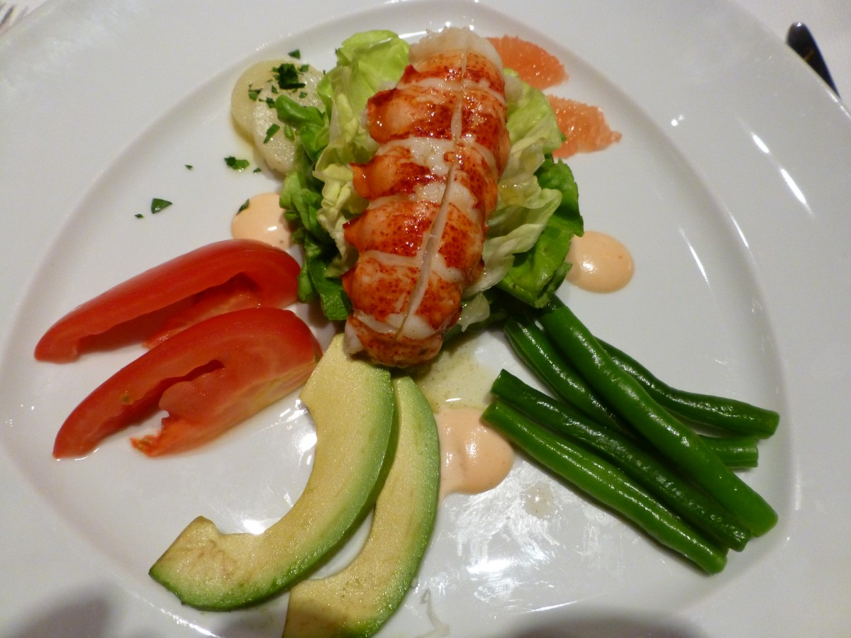 Le Cirque's famed lobster salad was one of the dishes in our second class of the day.