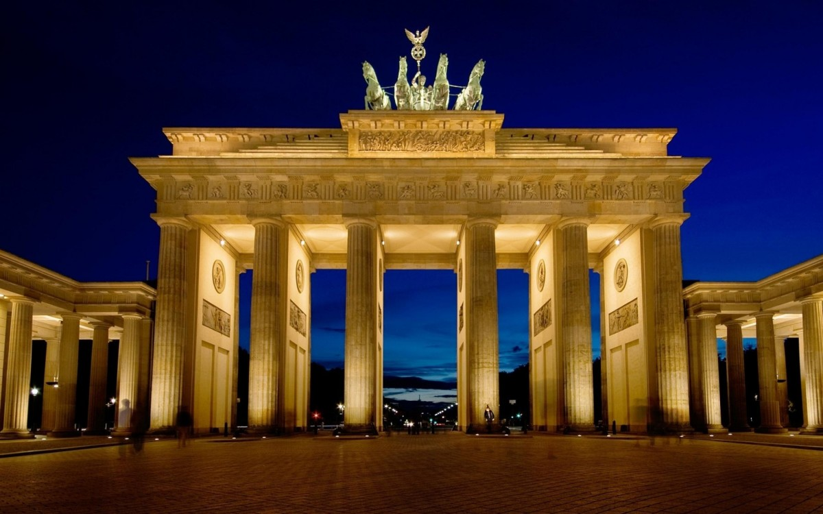 The Brandenburg Gate is a popular tourist attraction to visit prior to or following a cruise.