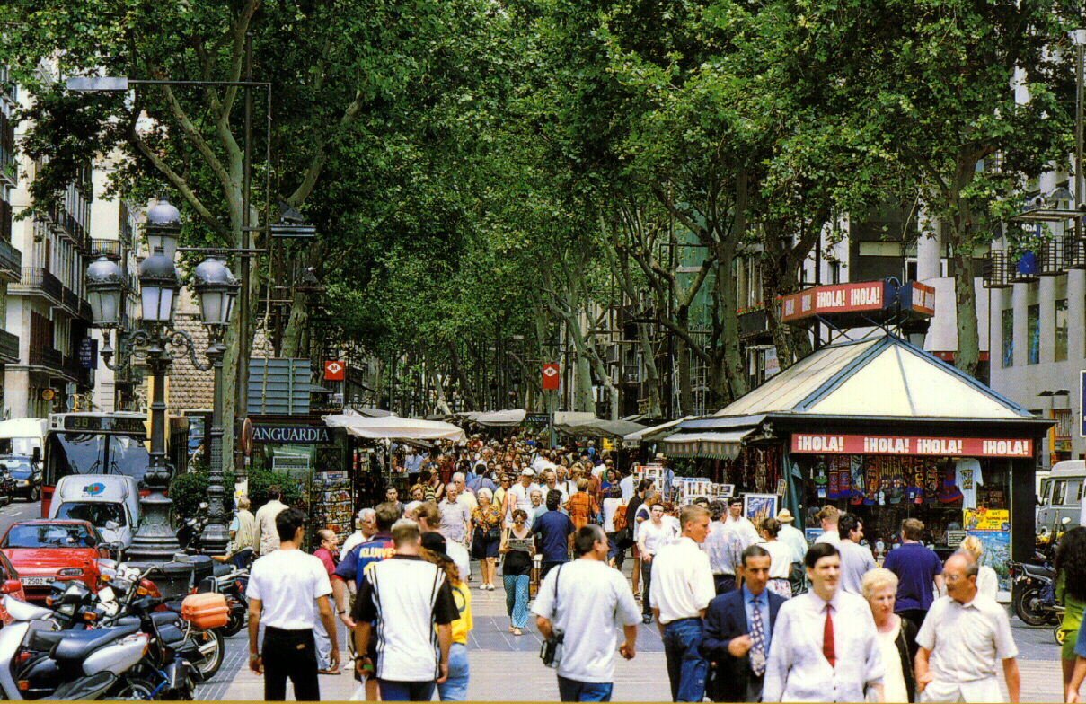 Las Ramblas in Barcelona is the main tourist spot, and there's plenty to see and do both in and around it.