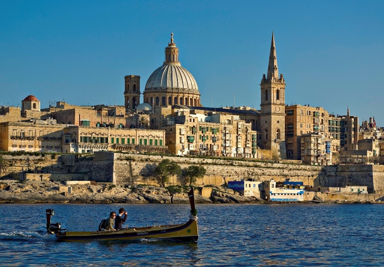 Malta's harbour is a dramatic entry point to the island nation.