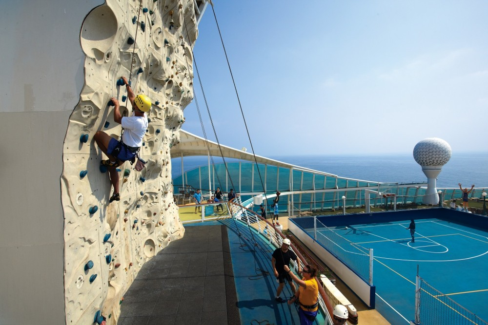 Rock Climbing makes up a wide range of activities aboard Royal Caribbean ships worldwide.