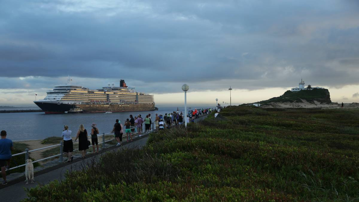 Hundreds of locals gathered earlier this year to welcome the maiden visit to Newcastle of Cunard's Queen Elizabeth.