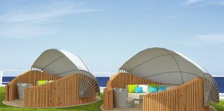 New Lawn Club Cabanas will soon be fitted to Celebrity Solstice.