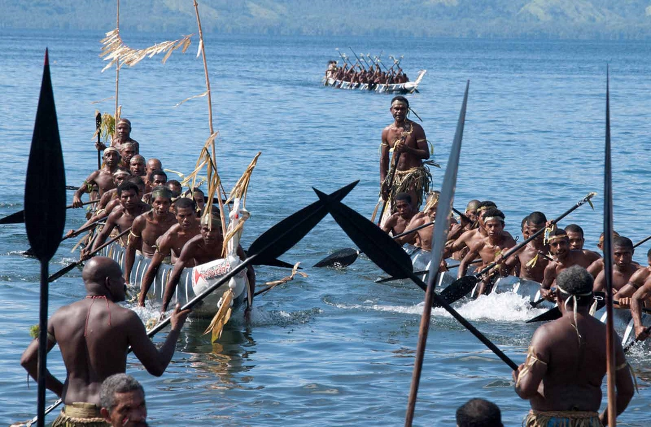 A cacophony of colour, energy and cultural excitement awaits at The Alotau Festival in Alotau, Papua New Guinea.