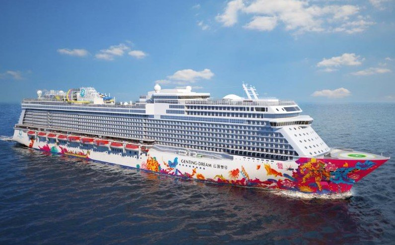 Genting Dream will be the first of two ships in the new Dream Cruises fleet.