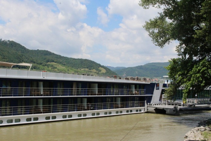 APT is just one of many river cruise ships which stop in Durnstein, in Austria's beautiful Wachau Valley.