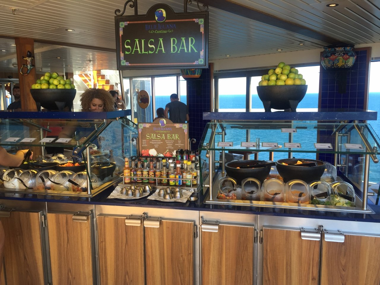 The Salsa Bar is always loaded with a wide range of freshly prepared ingredients, supplements and sauces.