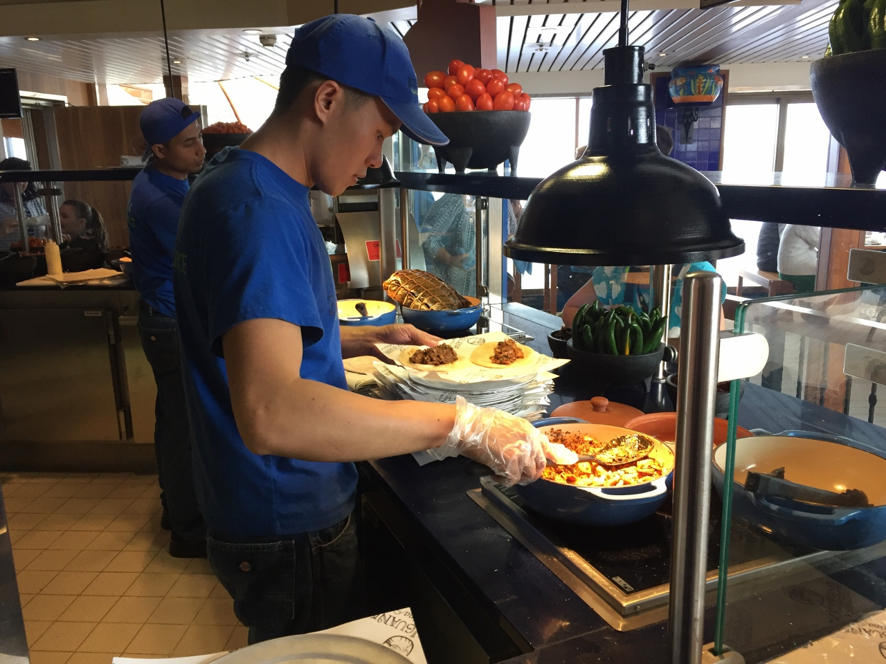 Service is rapid and very efficient at the BlueIguana Cantina on Carnival Cruise Line Carnival Spirit and Carnival Legend.
