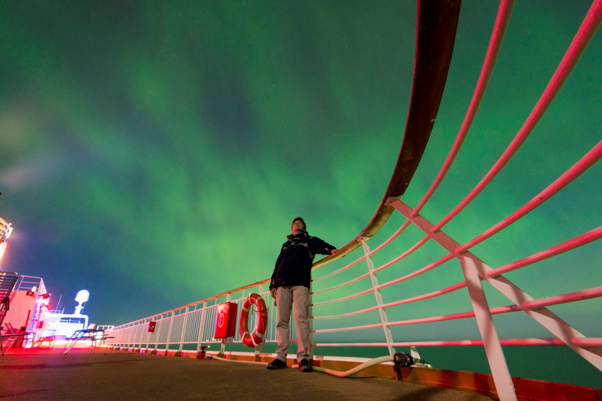 Viewing the Northern Lights can only be done on shoulder season voyages in very remote parts of the world.