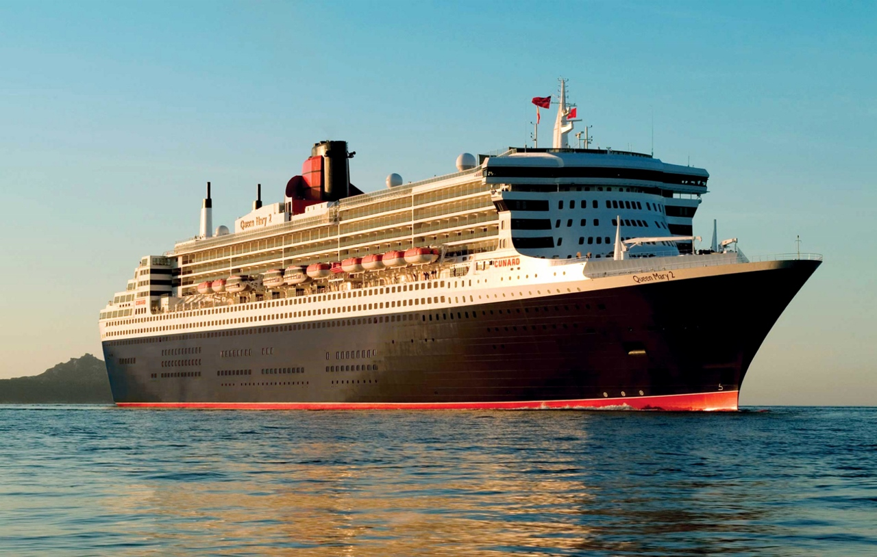 Queen Mary 2 is one of the three Cunard liners you'll experience on this massive cruise holiday.