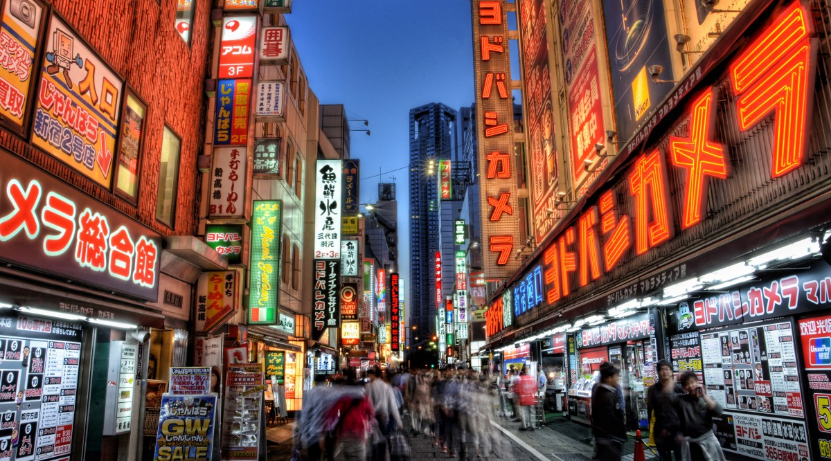 The hustle and bustle of Tokyo, couldn't be further from the serene nature of Alaska, however many cruise lines sail between the two.