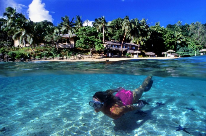 Travellers have the chance to go snorkelling in Vava'u, Tonga.