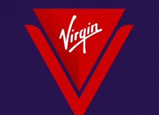 A look at the logo to be used by Virgin Voyages.