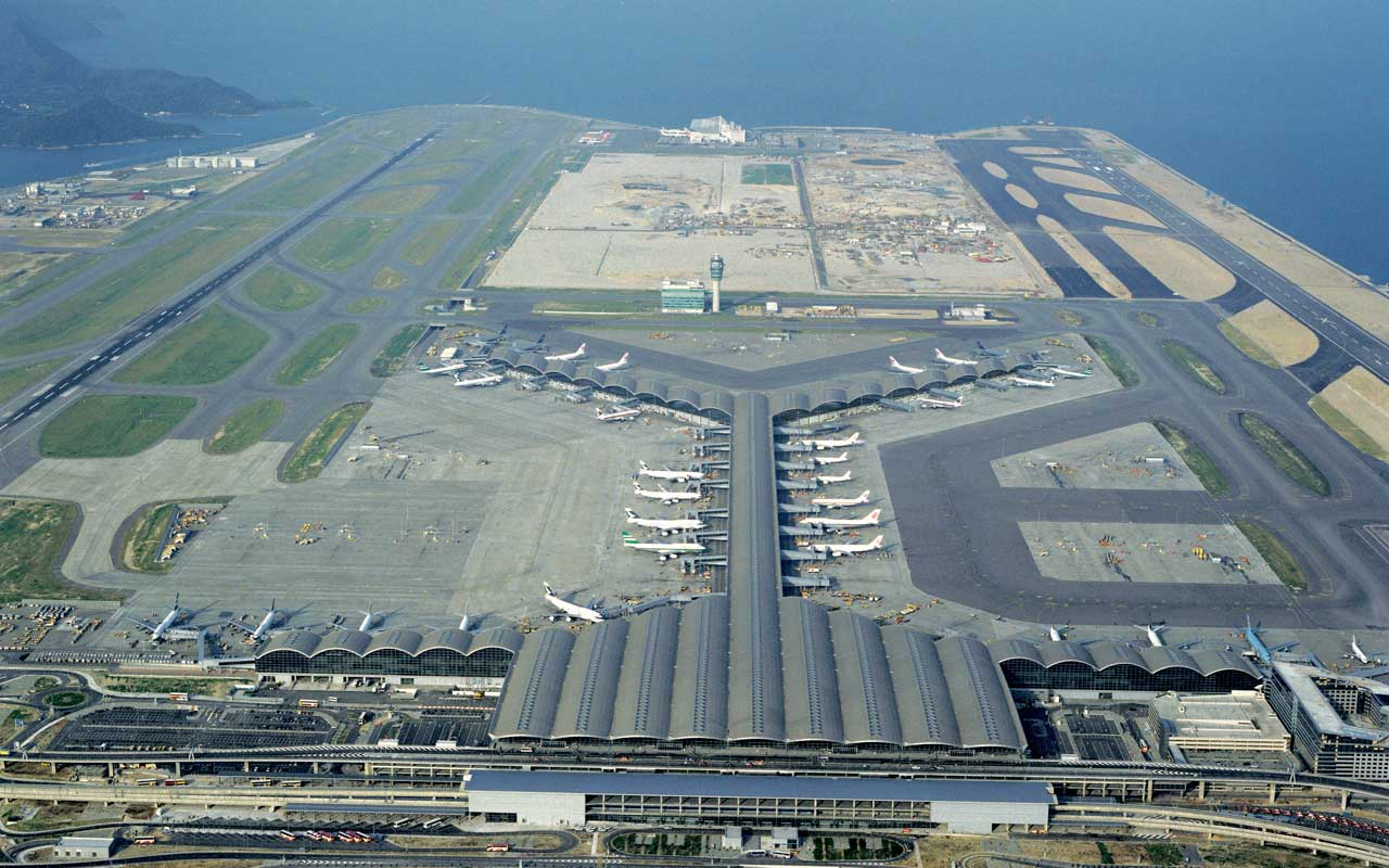 Hong Kong International Airport is served from most major Australian centres.