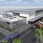 A rendering of how the new cruise terminal in Rome will look once complete.